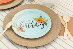 It's My Birthday Ice Blue Party Plates