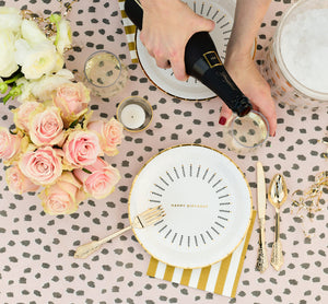 Blush Spotted Tablecloth