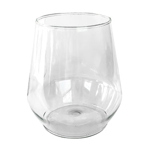 Clear Disposable Stemless Wine Glass
