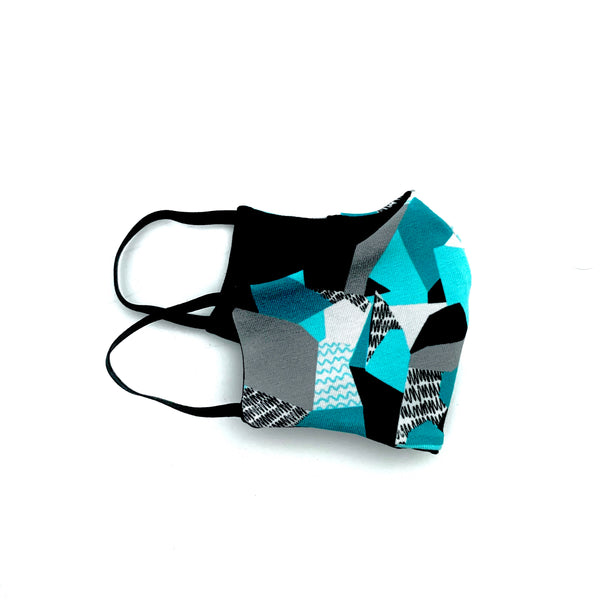 Teal Reflections Mask