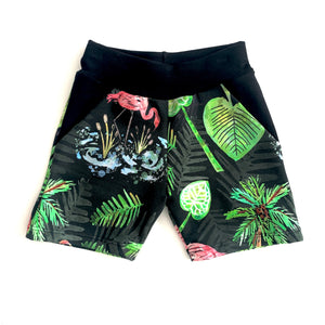 Flamingo Shorts Full Pattern