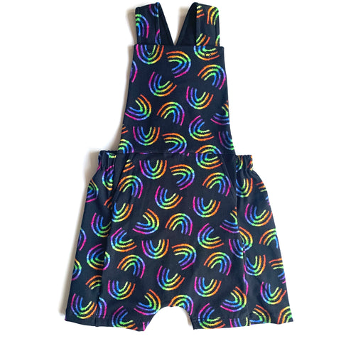 Rainbow Mania Short Dungerees Patterned Outside