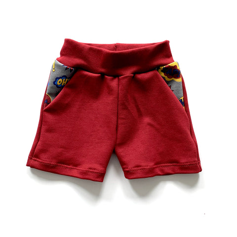 POW! Red Shorts