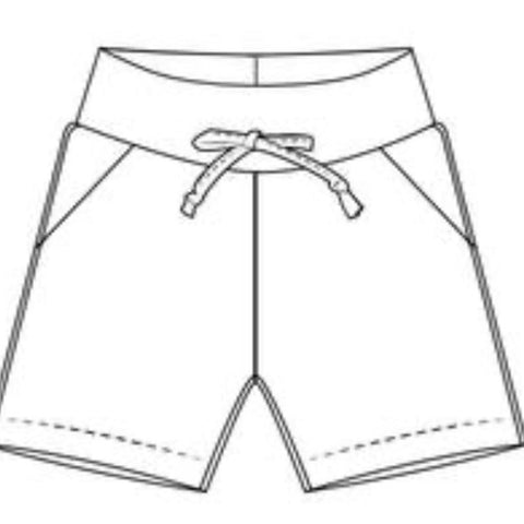 White Triangles Shorts Full Pattern