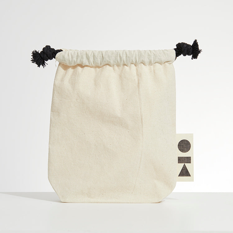 shapes drawstring bag