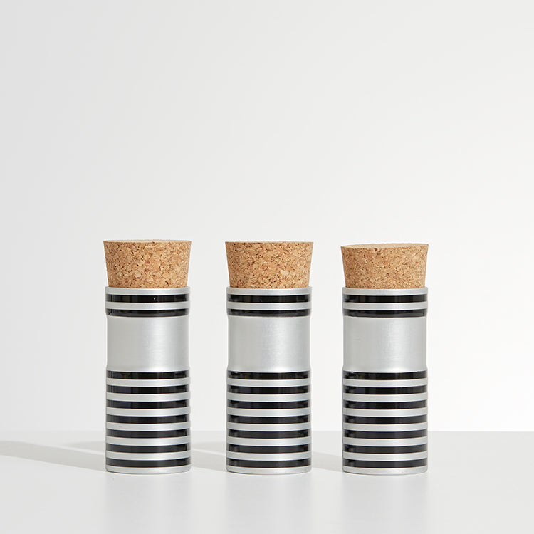 stripe corked pots