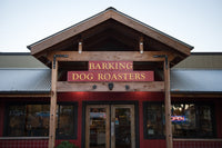 Exterior of Barking Dog Roasters a local Sonoma coffee roastery and bakery