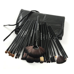 24 Piece Jet Black Brush Set - shoppingandfreebies