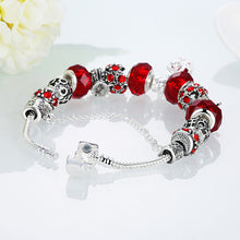 Load image into Gallery viewer, Royal Ruby Crown Jewel Pandora Inspired Bracelet Made with Swarovski Elements - shoppingandfreebies