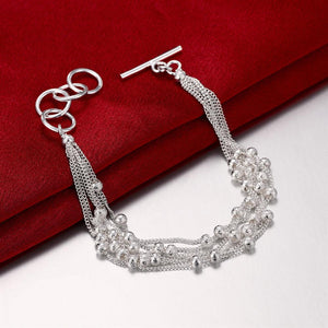 Bubble Pearl Bracelet in 18K White Gold Plated - shoppingandfreebies