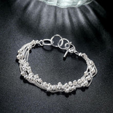 Load image into Gallery viewer, Bubble Pearl Bracelet in 18K White Gold Plated - shoppingandfreebies