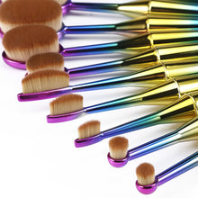 Load image into Gallery viewer, 10 Piece Mermaid Brush Set - shoppingandfreebies