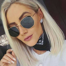 Load image into Gallery viewer, Vintage Sunglasses Women Brand Designer Men Square Polygon Glasses Retro Small Sun Glasses for Female Coating Shades Glasses - shoppingandfreebies