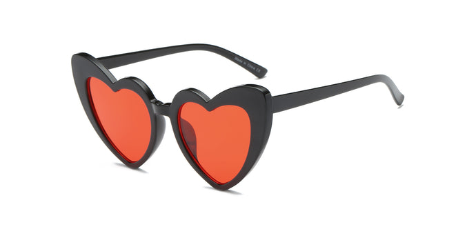 Women Funky Hipster Heart Shape High Pointed Cat Eye Fashion Sunglasses - shoppingandfreebies