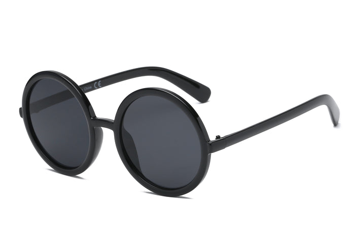 Women Retro Vintage Circle Round Oversized Fashion Sunglasses - shoppingandfreebies