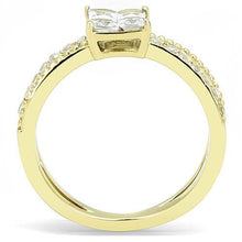 Load image into Gallery viewer, TK3181 IP Gold(Ion Plating) Stainless Steel Ring with AAA Grade CZ in Clear - shoppingandfreebies