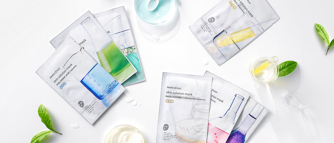 Group image of innisfree skin solution masks to address skin concerns