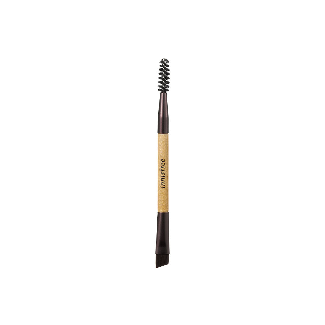 Mini dual eyebrow brush