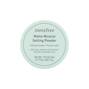Matte mineral setting powder