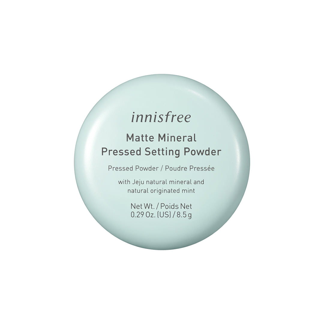 Matte mineral pressed setting powder