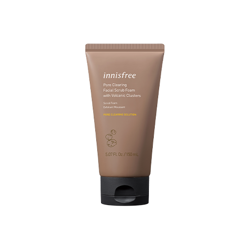 Pore clearing facial scrub foam