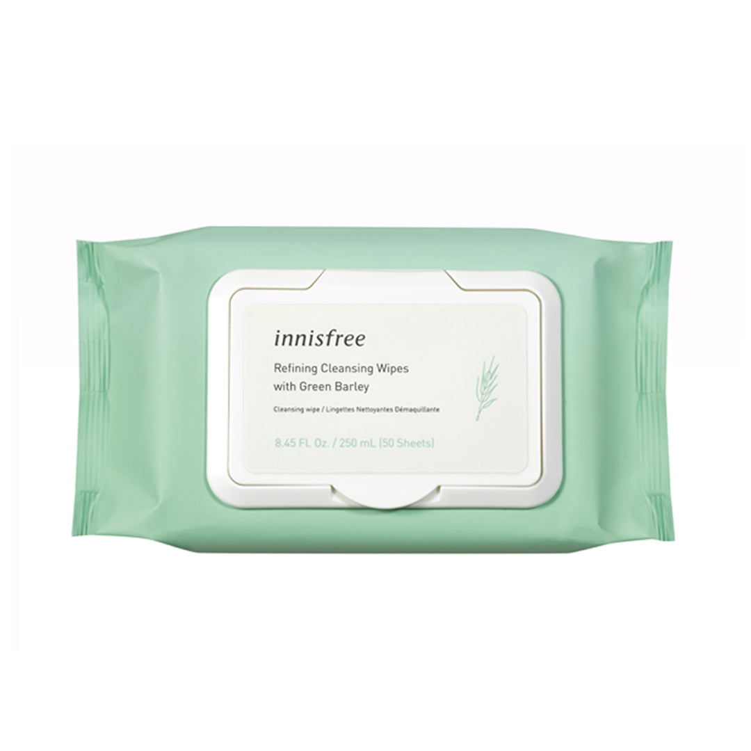 Refining cleansing wipes