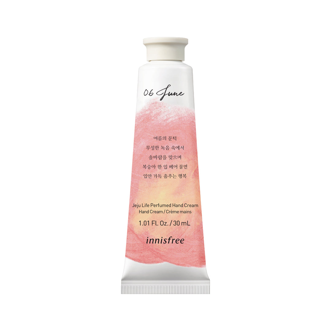 Jeju life perfumed hand cream - Peach