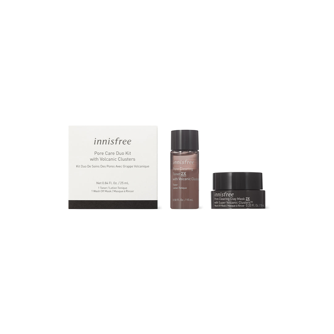FREE Pore care duo kit with volcanic clusters
