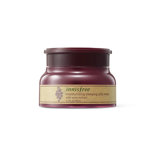 Moisturizing sleeping jelly mask with wine extract