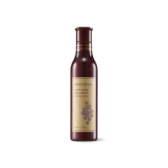 Moisturizing jelly softener with wine extract