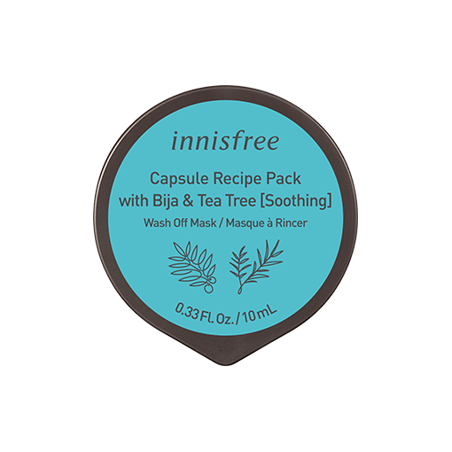 Capsule recipe pack with bija & tea tree