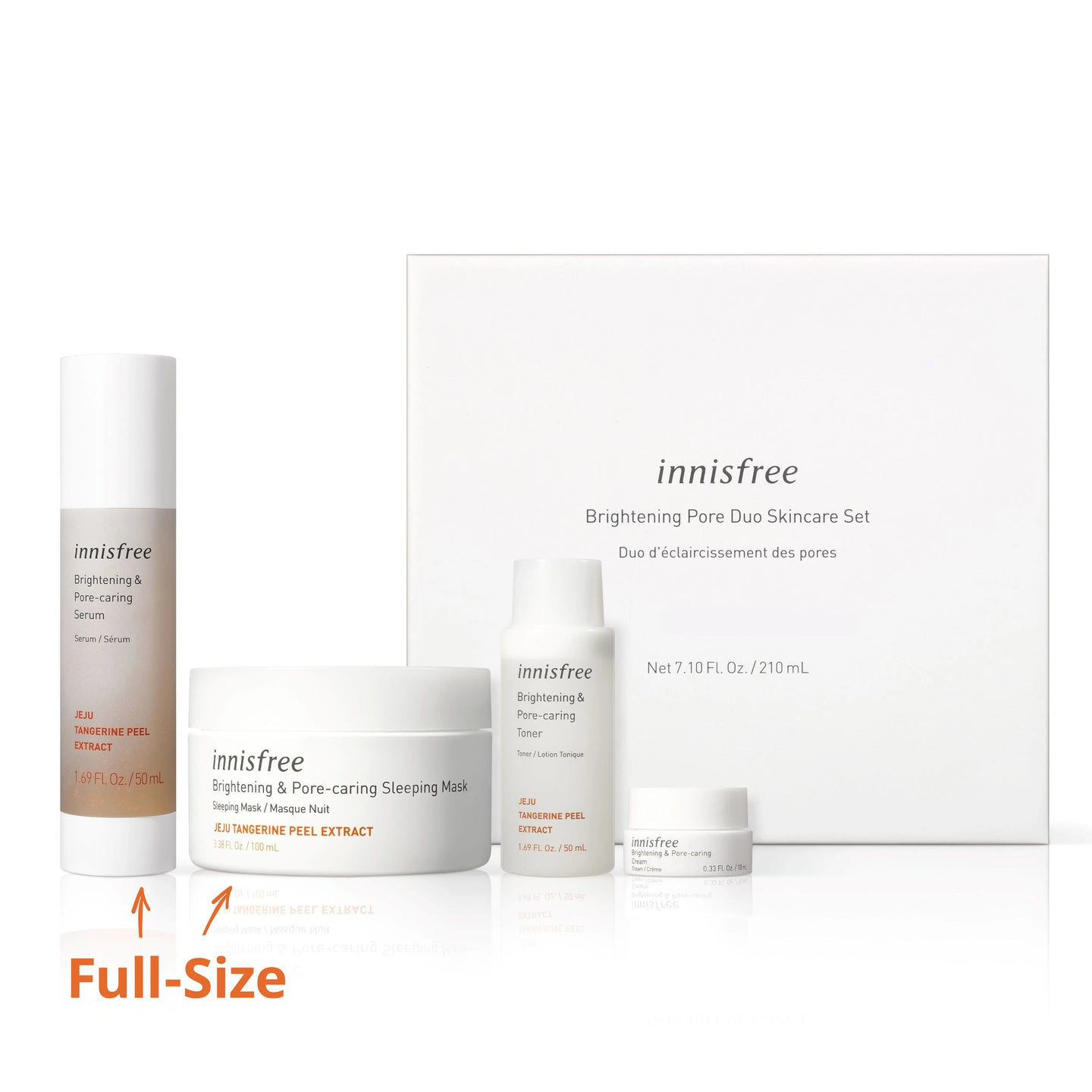 Brightening & pore-caring skincare set