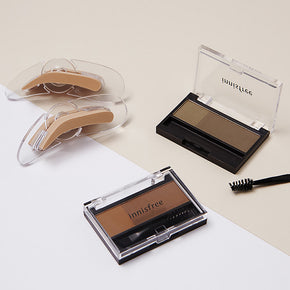 Two-tone eyebrow kit
