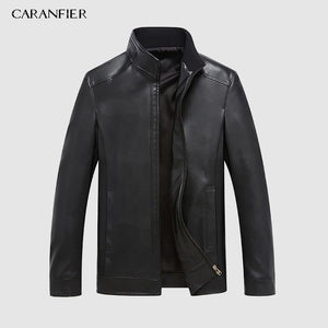 CARANFEIR - Men's Genuine Leather Jacket - 100% Sheepskin Coat - aleathershop