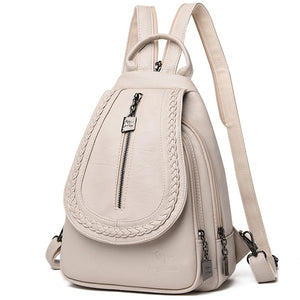 VANDERWAH - Women Leather Travel Backpacks - aleathershop