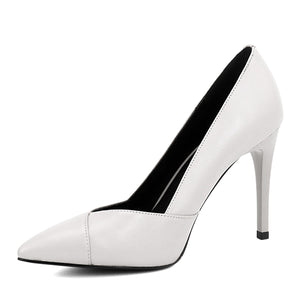 BESCONE - Wedding Party Leather High Heel Shoes - aleathershop