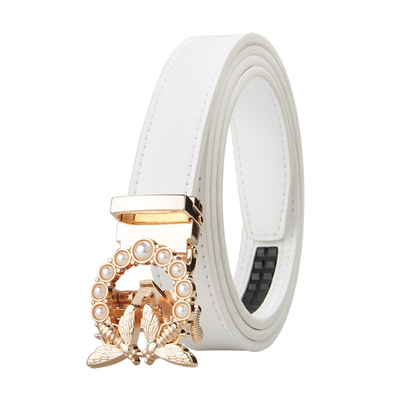 New Fashion Women's Automatic Buckle Belt - aleathershop