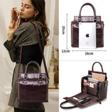 Cobbler - Multi-functional Large Genuine Leather Organizer Handbag - aleathershop