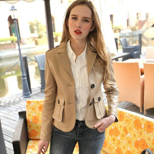 FASHIONBUG - Genuine Leather Vintage Retro Jacket - aleathershop