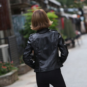 C&C - Genuine Leather Slim Motorcycle Jacket - aleathershop