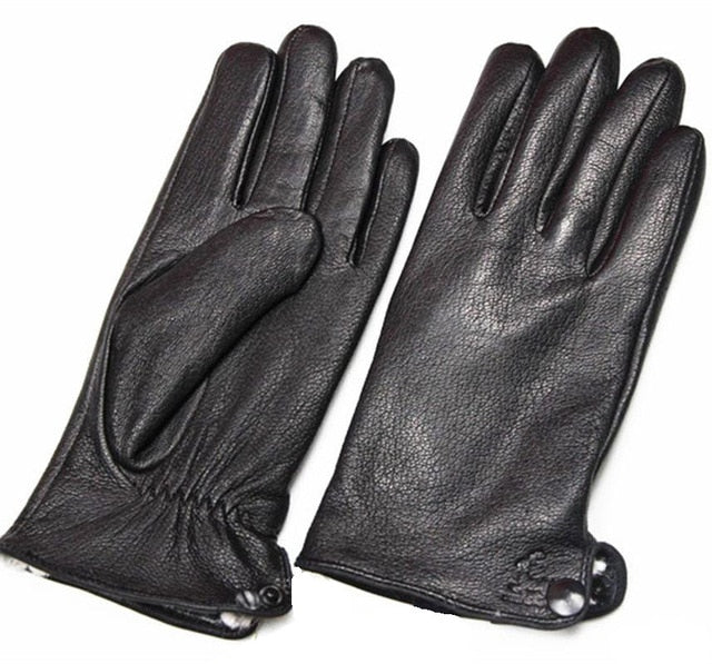 BICKMODS - Winter Deerskin Men's Leather Gloves - aleathershop