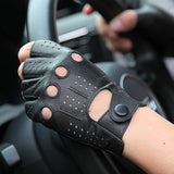 ARCtic SUN - Latest High-Quality Semi-Finger Genuine Leather Gloves - aleathershop