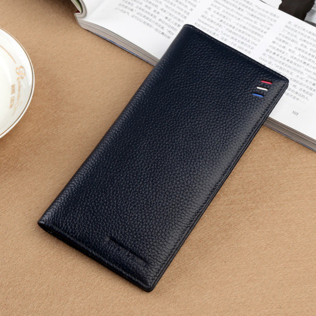 BISON DENIM -  Genuine Leather Slim Wallet - aleathershop