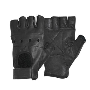 HOT Fashion Men's Leather Gloves Half Finger - aleathershop