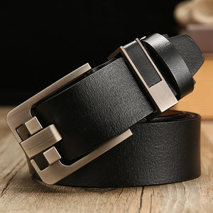male leather belt men strap male genuine leather - aleathershop