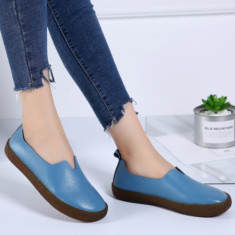 JIASHA - New Arrival Plus Size Loafers Genuine Leather - aleathershop
