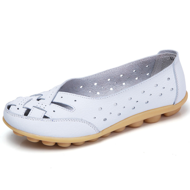 KUIDFAR - Genuine Leather Flat Slip-on Shoes - aleathershop