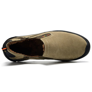 MVVT - Comfort Genuine Leather Casual Shoes - Suede - aleathershop