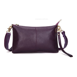 Genuine Leather Women Messenger Bag Famous Brand Female Shoulder Bag - aleathershop