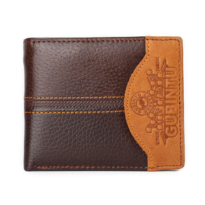 Vintage Men Wallets Genuine Leather Brand Wallet - aleathershop